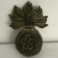 WW1 Royal Fusiliers Collar Badge Dug Example From Western Front 4.3 x 3 cm's