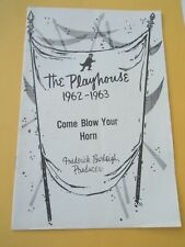 1962 - 63 - Pittsburgh Playhouse Theater Program - Come Blow Your Horn