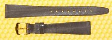 14mm HIRSCH Real-Eel Leather Flat Watch Strap Band LILAC <NWoT>