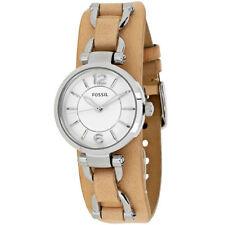 Fossil Quartz (Battery) Silver Case Wristwatches