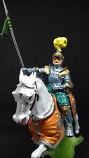 ELASTOLIN chevalier français en armure sur son destrier caparaçonné