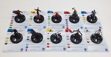 Heroclix Teen Titans set COMPLETE 10-figure Gravity Feed lot w/cards!