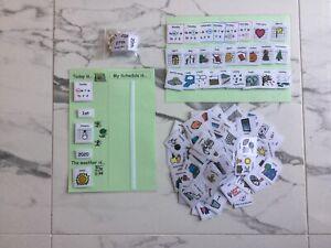 PECS/Boardmaker Day Planner + 100 cards for autism/aspergers/ASD/ADHD/SEN