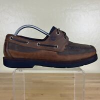 Timberland Echo Bay Boat Shoes Mens Size 9.5 M Brown Leather