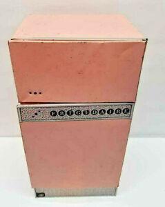 Vintage Wolverine Tin Toy Pink Kitchen Refrigerator