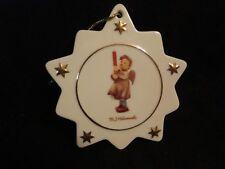 Vintage Hummel Porcelain Star Tree Ornament Angel w/ Candle- new w/ COA