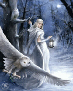 ANNE STOKES ART MIDNIGHT MESSENGER - 3D FANTASY PICTURE PRINT LARGE 300 x 400mm