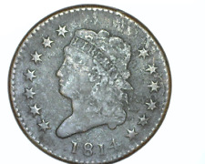 1814 U.S. CLASSIC HEAD LARGE CENT - SOLID  VERY GOOD+  CONDITION - PLAIN 4