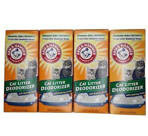 4 Pack Arm & Hammer Cat Kitten Litter Deodorizer 20 oz Each