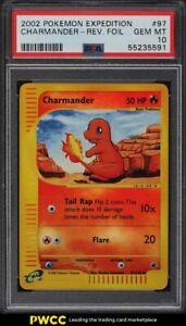 2002 Pokemon Expedition Reverse Holo Charmander #97 PSA 10 GEM MINT