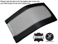 BLACK & GREY LEATHER ARMREST COVER FITS FORD MUSTANG 2010-2014