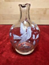 CARAFE A LIQUEUR VERRE EMAILLE Colombe  SHIPPING WORLDWIDE - Bouteille Flacon
