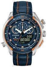 New Citizen Eco-Drive Promaster SST Blue Leather Strap Mens Watch JW0139-05L