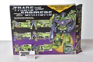 Vintage G1 Transformers CONSTRUCTICONS DEVASTATOR BOXSET - HASBRO