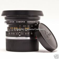 Leica Summicron 35mm f/2+HOOD 12504 - 1970 LEITZ WETZLAR GREAT SHOOTER ++BOKEH++