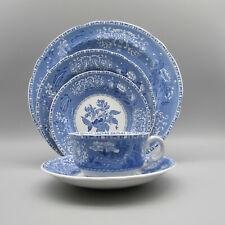 Spode England China Camilla - Blue 5pc Place Setting