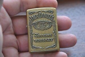 Zippo 2009 Jack Daniel's Whiskey Lighter Solid Brass