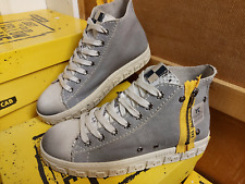 YELLOW CAB DAMES PLATEAU SNEAKERS CHECK GREY 6-F MAAT 37