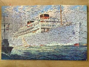 WINCHESTER CASTLE LINER complete 150 pieces wooden jigsaw puzzle VICTORY