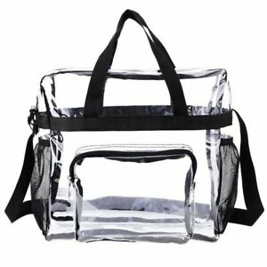 Clear PVC Transparent Tote Bag Gym And Travel See Through Big Pouch Sport Pack