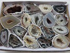 Oco Geode Lot Natural Polished Agate Halves Specimens Display Druzy Lot #11