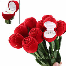 Romantic Rose Engagement Wedding Earring Ring Pendant Jewelry Display Gift Box N