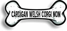 "Dog Mom Cardigan Welsh Corgi Bone Car Magnet Bumper Sticker 3""x7"""