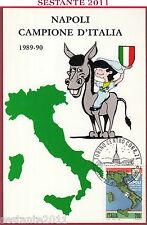 ITALIA MAXIMUM MAXI CARD ROMA 775 NAPOLI CAMPIONE D'ITALIA 1989 1990 TORINO C216