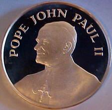 PROOF SILVER MEDAL PAPAL VISIT POPE JOHN PAUL II PHOENIX ARIZONA USA 9/14/1987