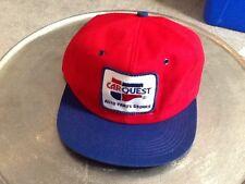 Vintage Carquest Car Quest Auto Parts Stores Patch Trucker Hat Cotton Red ! Retr