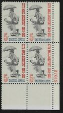 US Scott #1238, Plate Block #27612 1963 City Mail 5c FVF MNH Lower Right