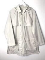 Whistles Ladies Ivory Rain Coat Zip Up Jacket Uk Size 12