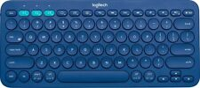 Logitech K380 Multi-Device Bluetooth Keyboard, Blue (For Parts, Not-Functional)