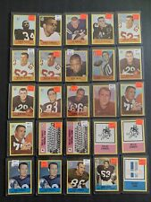 1967 NFL Cards Football Lot of 87 Cards