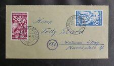 TIMBRES D'ALLEMAGNE : RFA 1948 MICHEL N° 30 + 31 RHEINLAND PFALZ SUR ENVELOPPE