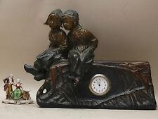 SCULTURA bambini ceramica OROLOGIO Goldscheider AUSTRIA 1800 LIBERTY CACCIAPUOTI