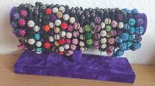 hand-made shamballa bracelet  - various colours