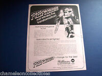 AEROBOTO 1984 WILLIAMS ORIGINAL VIDEO ARCADE GAME MACHINE SALES FLYER BROCHURE