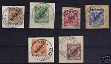 Karolinen, Mi-Nr. 1-6 I, LUXUS Briefstücke (21067)