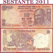 INDIA - 10 RUPEES 2009 - P  95k   Lettera L     - FDS / UNC