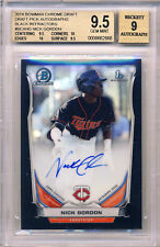 NICK GORDON 2014 BOWMAN CHROME BLACK REFRACTOR #/35 AUTOGRAPH BGS 9.5 9 AUTO RC!
