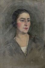 Henry SÉNÉ (1889-1961) Portrait jeune femme HST orientalisme Fernand Cormon