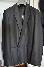 $1800 Authentic Dark Gray PRADA Jacket Blazer Mens  NWT EU 50R UK US 40R Black