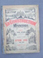 La construction moderne 1891-1892 éditeur Dujardin Auteur Planat Architecture