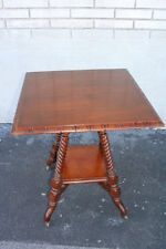 Great Hunzinger Style Solid Walnut American Made Carved Center Side End Table