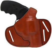 Italian Leather 2 Position Holster Fits Charter Arms Undercover 38 Spl Rev (TAN)