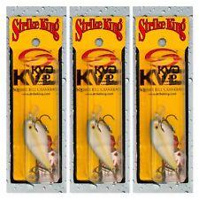 "(3) Strike King KVD 1.0 Square Bill 2"" Crankbaits 1/4 Oz. Sexy Blue Back Herring"