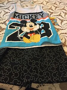 Short Set For Boy, Mickey Mouse Theme, Size 5t, Two Piece Set