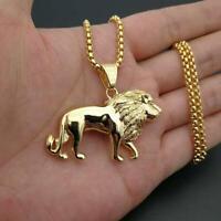 Löwe Anhänger 18K Gold Überzogene Ketten Tier Charme Halskette Der Männer