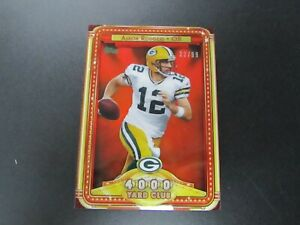 2013 Topps Aaron Rodgers 4000 Yard Club SP 32/99